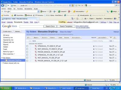 Google Docs maintenance information storing