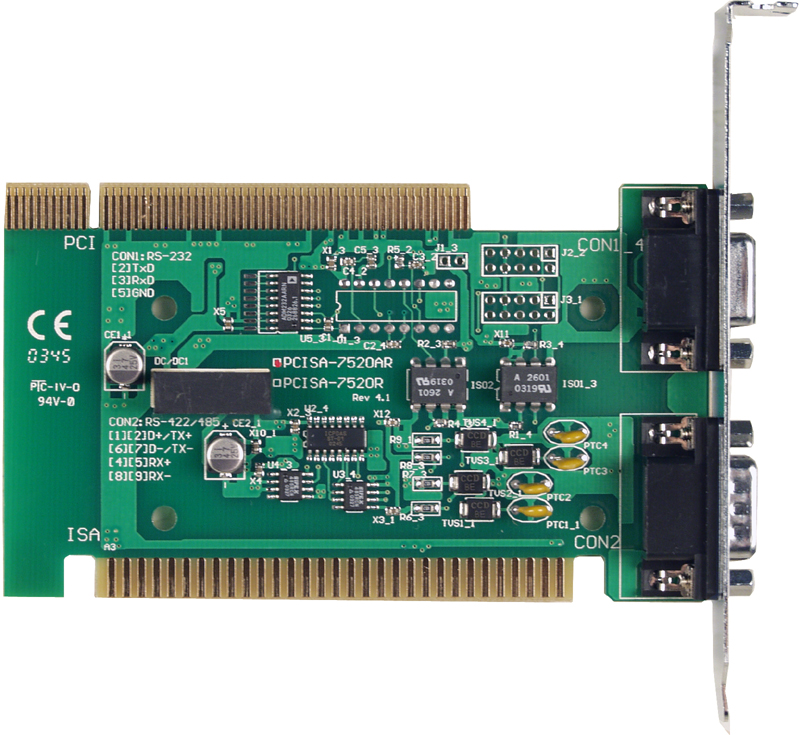 PCISA-7520R - Isolated RS-232 to RS-485 Converter Card