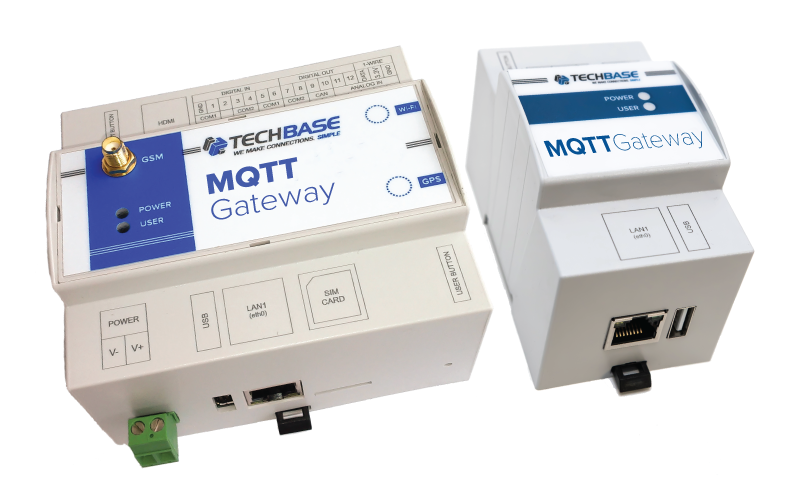 MQTT GATEWAY - Programmable industrial MQTT gateway/converter, up to
