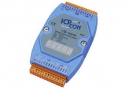 Embedded communication controller, 7x RS-232, 1x RS-485, 1x DI, LED display, programmable