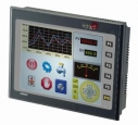 "5.7"" 65, 536-color Display, HMI, RISC mintrocontroller 200MHz, embedded, Flash, SD Card, 320x240px, 1x RS-232/485, 2x RS-232/422/485, 1x USB, IP 65, Natural Cooling"