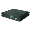 Embedded computer with CPU Intel Atom N270 1.6GHz, 2GB RAM, 1x IDE, 2x SATA, CF, 6x COM, 4x USB 2.0,  1x DB25, fanless, 10/100/1000base-tx, VGA, DVI