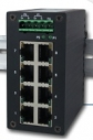 Industrial 8-port Unmanaged Fast Ethernet Switch, 8x 10/100TX RJ-45