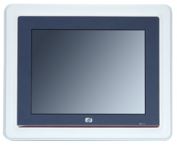 "Dotykowy panel PC, 8.4"" VGA TFT, CPU AMD 500MHz, 1x CF, 1x RS-232, 1x RS-232/422/485, 2x USB, 1x 100base-TX, audio, bezwentylatorowy"