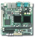 Cost-effective Ultra Low Voltage IntelŸ CeleronŸ M Processor based Mini-ITX Board with Dual Displays,Four COM Ports