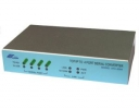 4x RS232/422/485 to Ethernet Networking converter, Power supply 9-24Vdc, Virtual Com, device server, power supply