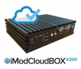 Oprogramowanie iModCloud na mini komputerze typu BOX z czterordzeniowym procesorem Intel Celeron N2930 1.83GHz (boost do 2.16GHz), 8GB DDR3, 250GB SSD, mSATA/Mini PCI-e, 3xRS-232, 1xRS-232/422/485, 2x Gigabit LAN, 1x USB 3.0, 5x USB 2.0, HD Audio, DVI-D, VGA, Wi-Fi (opcja), SIM holder, 12V AC-DC