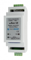 Converter M-Bus Master to RS 232. Communication in MBus over RS232.